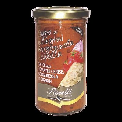 Sauce tomates, gorgonzola&oignons FLORELLI, 250g