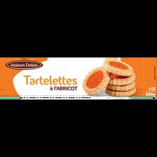 Tartelettes à l'abricot maison Delsin, 200g