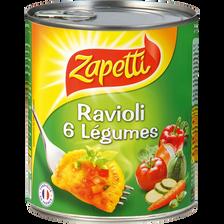 Raviolis aux 6 légumes ZAPETTI, 800g