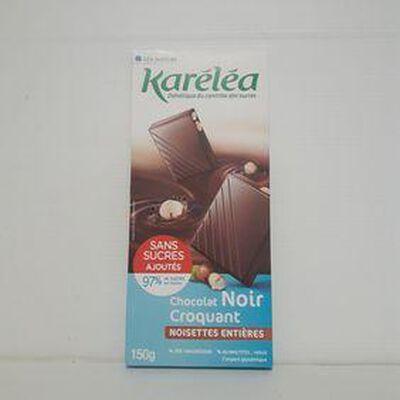 Chocolat noir au noisettes KARÉLÉA tablette 150g