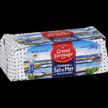 Grand Fermage Beurre Aux Cristaux De Sel De Mer De Noirmoutier 80% De Matière Grassegrand Fermage, Plaquette De 250g