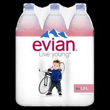 Evian Eau Minérale Naturelle Evian, 6x1,5l