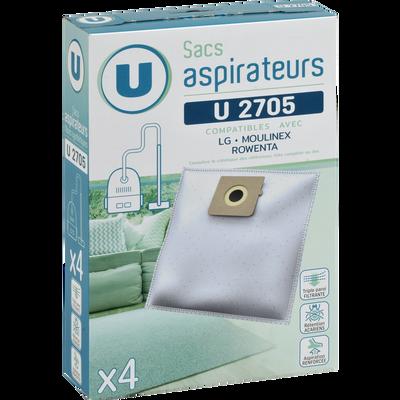 SAC ASPIRATEUR U SU2705 X4