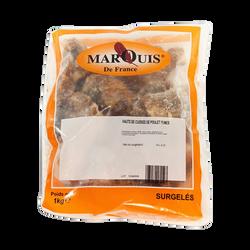 Haut cuisse poulet cuit fumé congelé MARQUIS DE FRANCE, sachet de 1kg