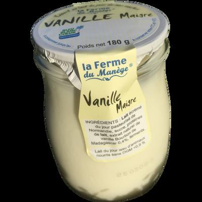 Yaourt maigre entier au lait du jour vanille LA FERME DU MANEGE, 180g