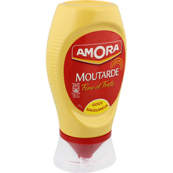Moutarde forte AMORA, flacon souple de 265g