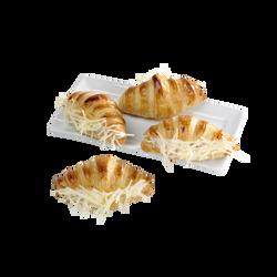 Minis croissants jambon fromage, 4 pièces, 200g