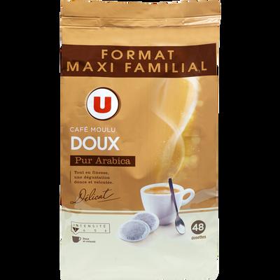 Café doux U, 48 dosettes, 336g