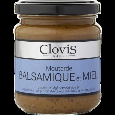 Moutarde balsamique et miel CLOVIS, 200g