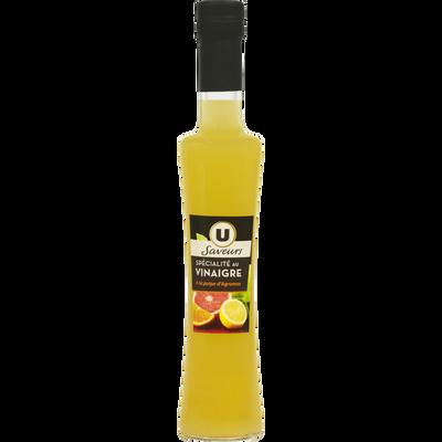 Préparation à base de vinaigre et de pulpe d'agrumes U SAVEURS, bouteille en verre de 20cl