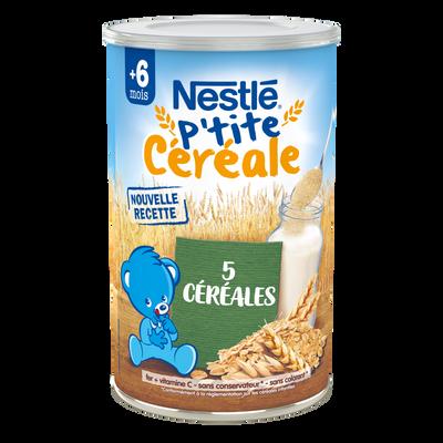 P'tite Céréale aux 5 céréales NESTLÉ, dès 6 mois, boîte de 400g