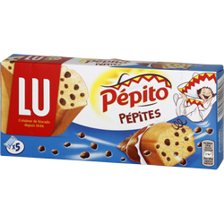 Mini gâteaux aux pépites de chocolat PEPITO Choco, 5 unités, 150g
