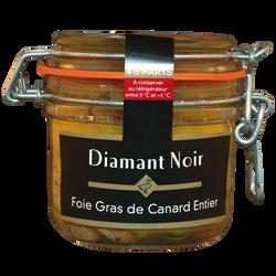 Foie gras de canard entier DIAMANT NOIR, 160g