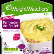 WeightWatchers Parmentier De Poulet Carottes Et Oignons Weight Watchers, Barquette Micro-ondable De 300g