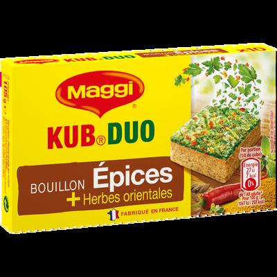 Bouillon kub duo épices et herbes orientales MAGGI, 10 tablettes soit105g