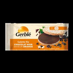 Galette de riz chocolat noir saveur orange GERBLE, boîte de 130g