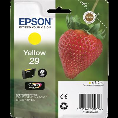 Cartouche d'encre EPSON, C13T29844020, jaune, Fraise, sous blister