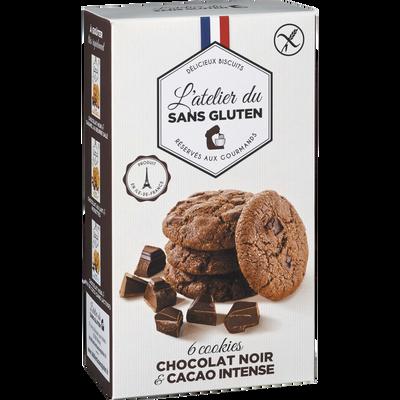 Cookies chocolat noir et cacao intense sans gluten L'ATELIER DU SANS GLUTEN, 150G