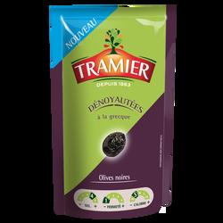 Olive noire dénoyautée à la grecque, TRAMIER, sachet de 100g