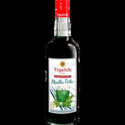 Sirop artisanal de menthe EYGUEBELLE, bouteille en verre de 1l