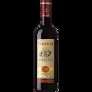 Cellier Yvecourt Vin Rouge Aop Bordeaux Yvescourt, 75cl