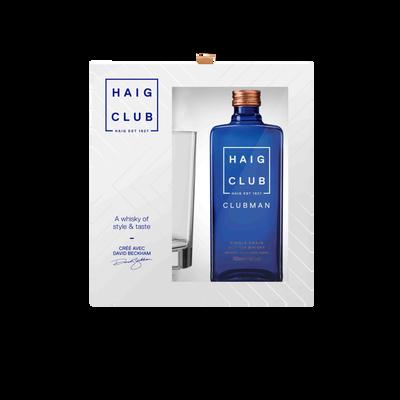 Scotch whisky single malt  clubmanHAIG CLUB, 40°, 70cl + coffret + 1verre