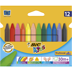 Craies de coloriage Plastidécor BIC Kids, couloris assortis, 12 unités