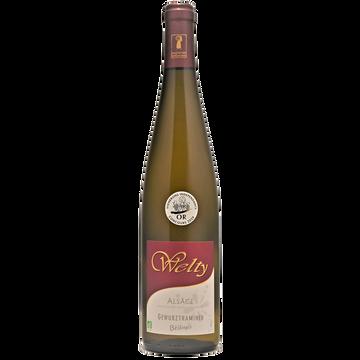 Gewurztraminer Vin Blanc Bio - Alsace - Aop - Gewurztraminer Welty Bélénus 2018 - 75cl