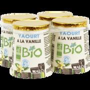 Malo Yaourt Bio À La Vanille Malo, 4x125g