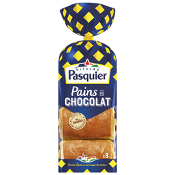 Pain au chocolat PASQUIER, 8 emballage individuel, 360g