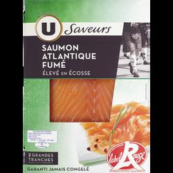 Saumon fumé d'Ecosse Label Rouge U, 2 tranches soit 80g