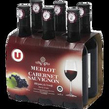 Vin rouge IGP Pays d'OC Merlot U, 6 bouteilles de 25cl