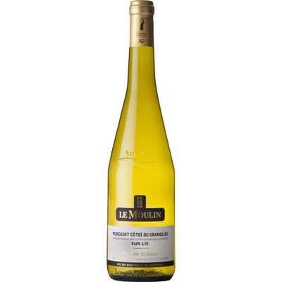 Muscadet côtes de Granlieu AOC sur Lie blanc LE MOULINL, bouteille de75cl