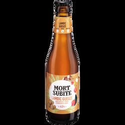 Bière Gueuze Lambic MORT SUBITE, 4,5° bouteille 33cl