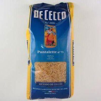 Pâtes Puntalette N°73 DE CECCO, 500g