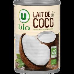 Lait de coco issu de l'agriculture biologique Bio U, 400ml