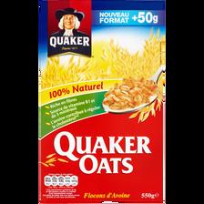 Céréales flocons d'avoine QUAKER OATS, 550g