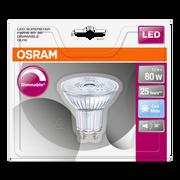 Osram Ampoule Led Prémium Osram, Spot, 80w Gu10, Verre Lumière Froide Variateur