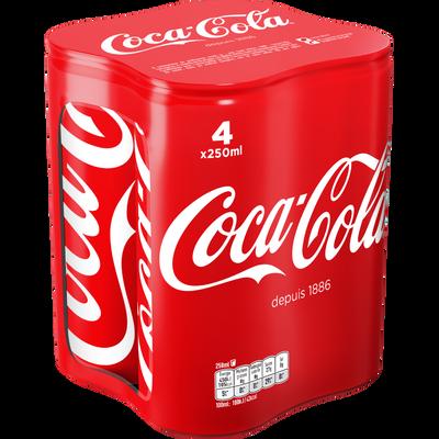 COCA-COLA, 4 canettes de 25cl