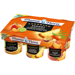 Yaourt gourmand panaché fruits jaunes MAMIE NOVA, 6x150g