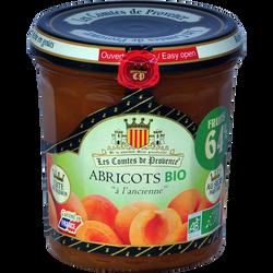 Confiture d'abricot bio LES COMTES DE PROVENCE, pot de 350g
