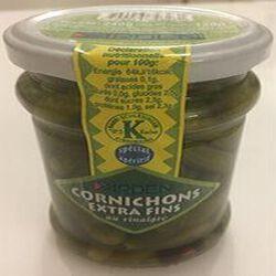 Cornichons extra fins au vinaigre, produit Casher, YARDEN, 120g