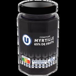 Confiture myrtille 65% de fruits U, 300g