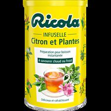 Infuselle aux 5 plantes et au citron, RICOLA, boîte de 200g