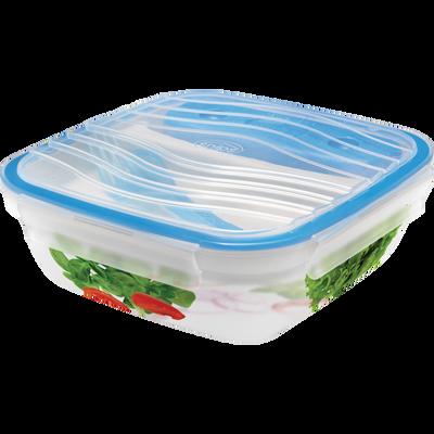 Lunch box hermétique, 21x21x7,5cm