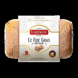 Foie gras de canard entier mi-cuit du Sud-Ouest au poivre LARTIGUE ETFILS, 320g