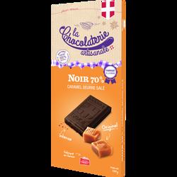 Tablette chocolat noir 70% caramel beurre salé LA CHOCOLATERIE ARTISANALE, 100g