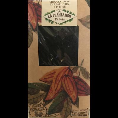 Chocolat noir thé Earl Grey, PLANTATION BOVETTI, tablette de 80g