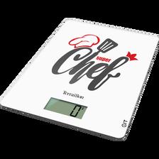 Balance culinaire électronique TERRAILLON, plateau en verre, touches mécaniques, 3kg