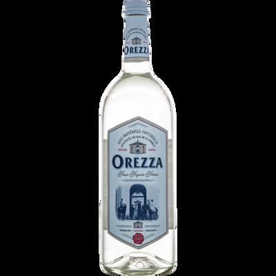 Eau minérale gazeuse OREZZA, bouteille en verre de 1 litre